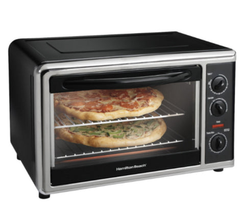 Countertop Convection & Rotisserie Oven with Two Cooking Racks Black