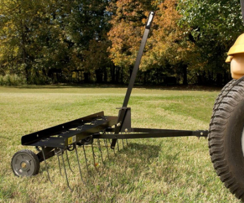 Brinly 40 In. Tow-Behind Dethatcher with 20 Flexible Dual-Tine Tips Garden Use