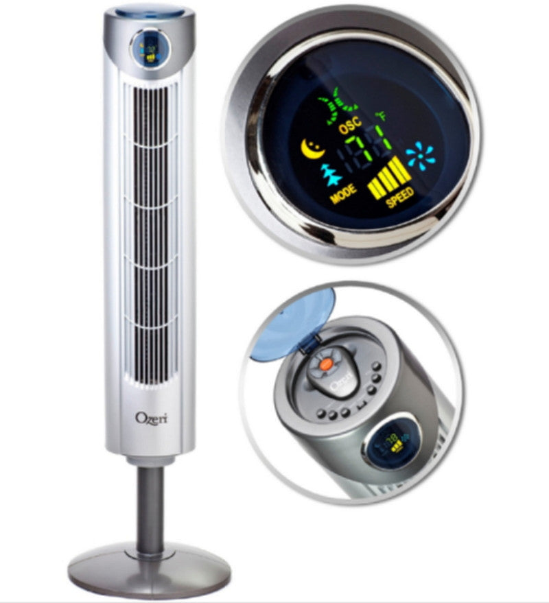 "42"" High Velocity Oscillating Tower Fan with Remote Stylish Home Decor"