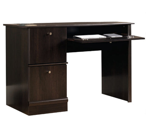 Contemporary Computer Desk Home Office Furniture Cinnamon Cherry Finish