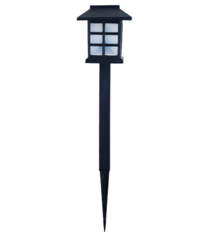 LED Pathway Lighting with Battery Outdoor Garden Decor Yard Path Light Black