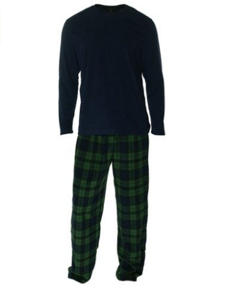 Medium Club Room Men's Fleece 2 Piece Pajama Set - Blackwatch Super-Comfy