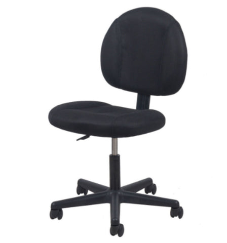 Swivel Mid-Back Mesh Task Chair with Lumbar Support Home Office Furniture Black