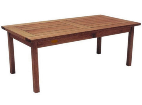 Milano Coffee Table Contemporary Outdoor/Indoor Furniture Eucalyptus Wood Finish