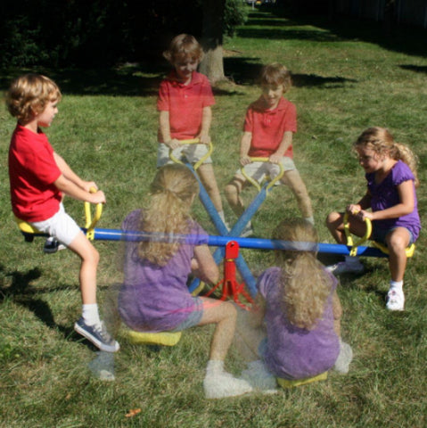 Nostalgic Stand-Alone See Saw Spinner Residential Use Outdoor Games Sturdy