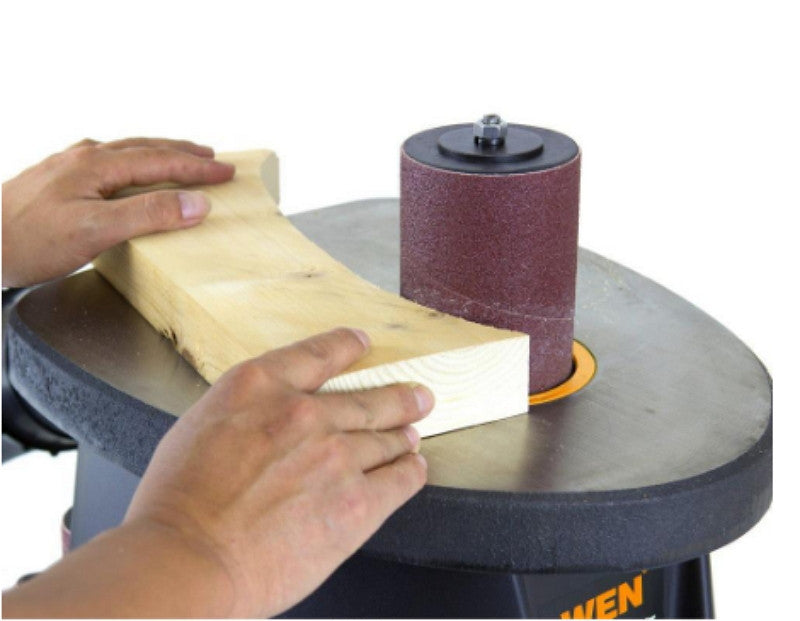 3.5 Amp 1/2 HP Oscillating Spindle Sander with Sanding Throat Plates Lightweight