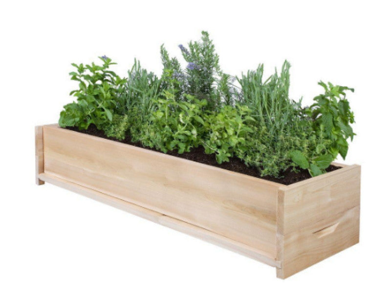 l cedar planter box patio garden flower box rectangular outdoor planter