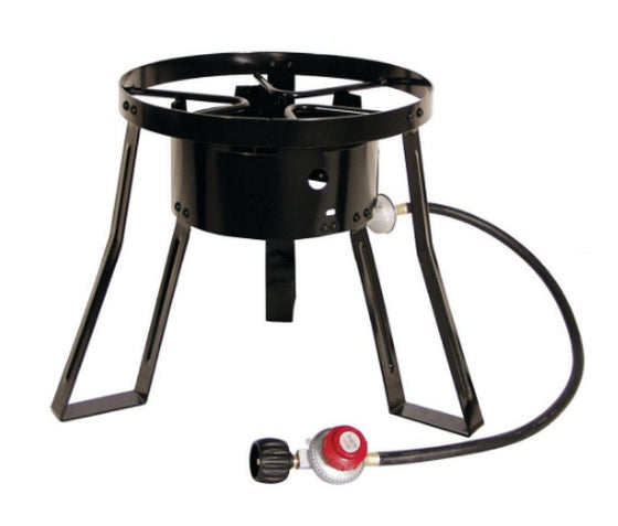 Propane Gas Outdoor Cooker Stand Iron Burner 45,000 BTU 32 Qt. Steel