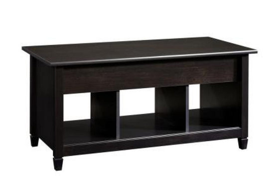 Rectangular Lift-Top Coffee Table Living Room Furniture Estate Black Finish