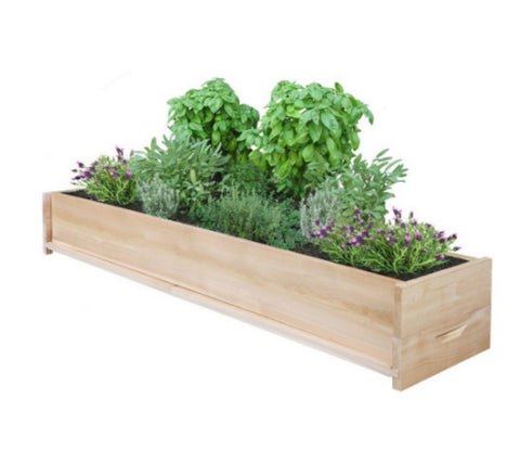 48 Inch Cedar Planter Box Rectangular Patio Planter Outdoor Natural Finish