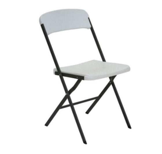 Residential Contemporary Folding Chair in White (6-Pack) Outdoor Patio Furniture