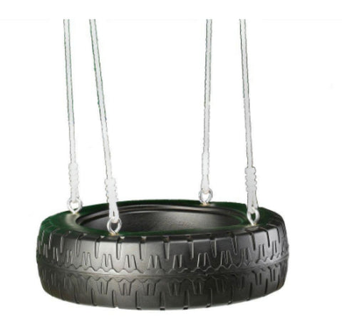 Swing-N-Slide Tire Swing Spinner with 4 Strong Ropes Molded Plastic Tire Design