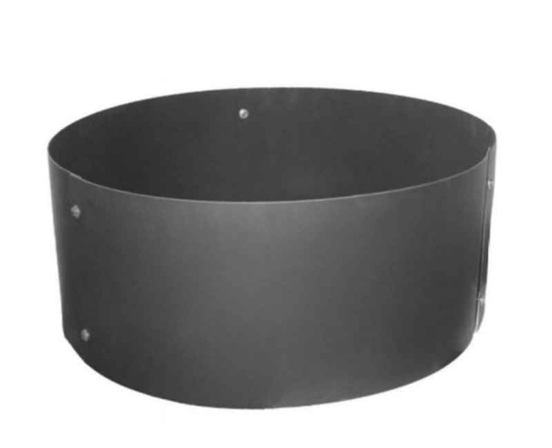 Ultimate Fire Pit Ring Heavy-Duty Steel Fire Ring Weather Resistant Black