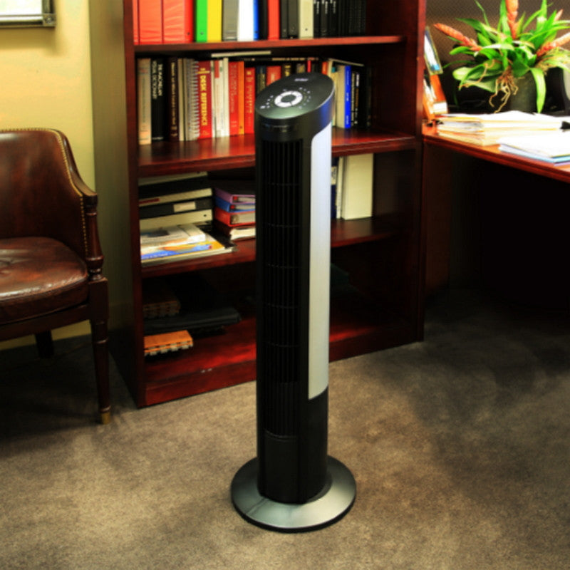 "UltraSlimline Oscillating 40"" Tower Fan 4-Speed with LCD Remote Control"