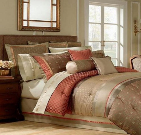 Waterford Linens Bogden Comforter King Stunning Traditional Textile Design