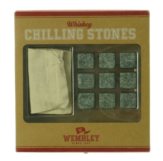 Wembley Whiskey Stone Chilling Set of 9 with Storage Pouch Taste-Free
