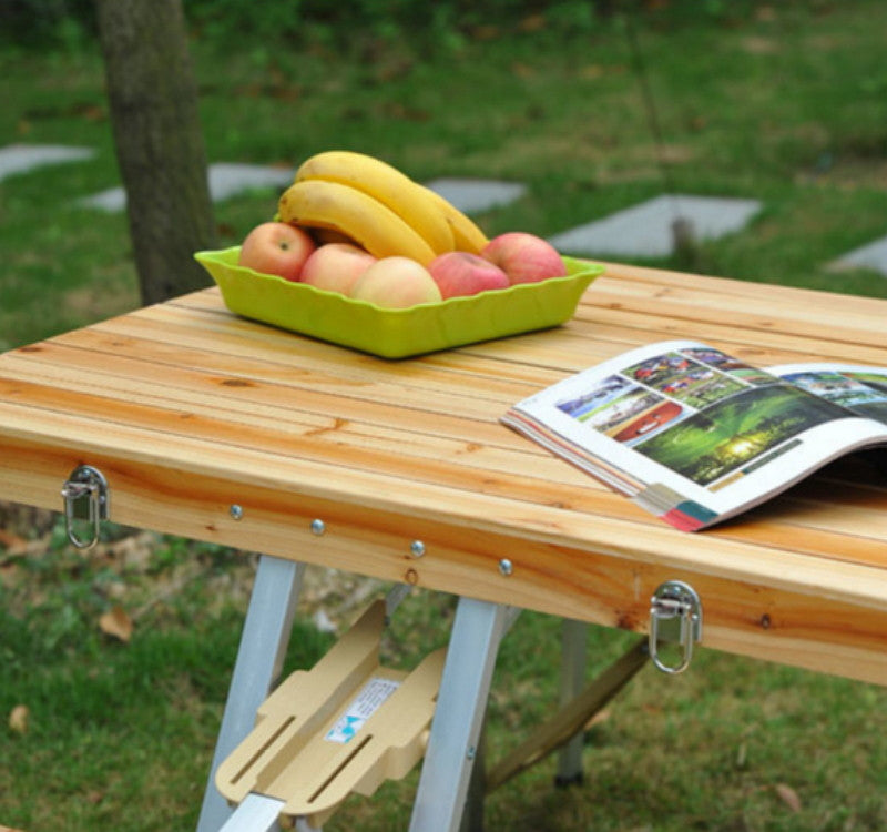 Foldable Picnic Table Garden Furniture Wooden Outdoor Camp Table