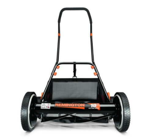 18 In. Walk-Behind Nonelectric Reel Mower with Bagger Manual Push Mower