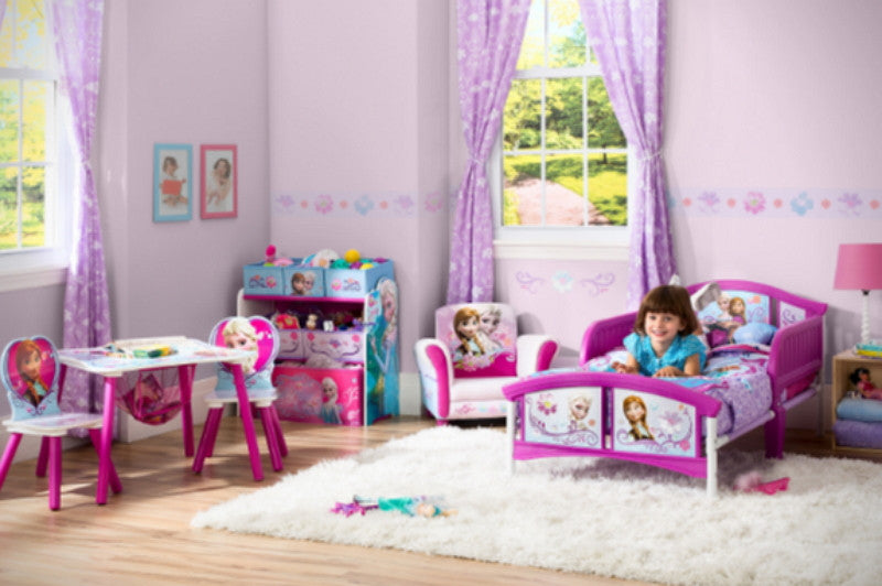 Disney Frozen Convertible Toddler Bed Girl's Bedroom Furniture with Guardrails