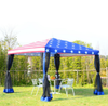 Image of Pop-Up Canopy American Flag Print Party Tent with Mesh Wall Water-Resistant