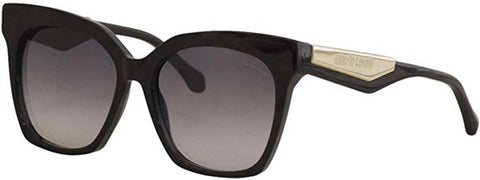 Roberto Cavalli Ladies Sunglasses Shiny Black Frames with Gradient Smoke Lenses