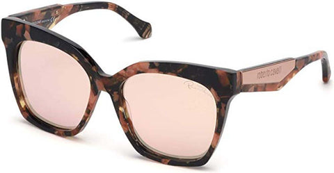 Roberto Cavalli Ladies Sunglasses Coloured Havana Frames w Brown Mirror Lenses
