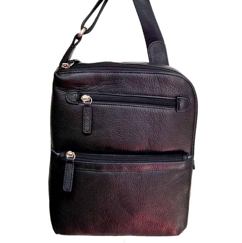 Osgoode Marley Men's Grande Traveler Black Crossbody Bag