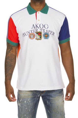 Akoo Size Medium Coral Rose Nature Short Sleeve Polo