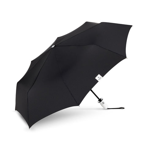 The Indestructible Umbrella Black Dualmatic White Handle/Grip Compact Umbrella
