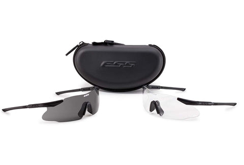 ESS Sunglasses ICE 2X Retail Kit Black with Clear/Smoke Gray Lens