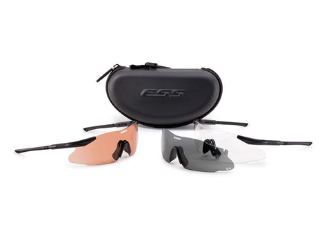 ESS Sunglasses ICE Tactical Kit Black w/Interchangeable Clear/Gray/Hi-Def Copper