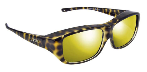 Jonathan Paul Fitovers Large Quamby Cheetah Polarized Gold Mirror Sunglasses