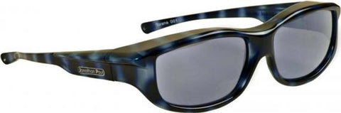 Jonathan Paul Fitovers Large Torana Blue Demi Polarized Gray Sunglasses