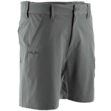 "Huk Men's Next Level 7"" Charcoal Grey Small Performance Fishing Shorts"