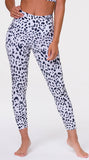 Onzie High Rise White Leopard Small/Medium Midi Leggings