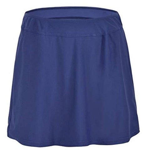 Hilor Women's High Waist Size 14 Bijou Blue Skirted Bikini Bottom Swimsuit Skort