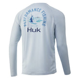 Huk Men's Marlin Pursuit Plein Air XXX-Large Long Sleeve Performance Fishing Shirt