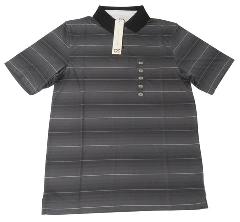 Cutter & Buck Golf Men's Fine Striped Medium Charcoal Polo Shirt