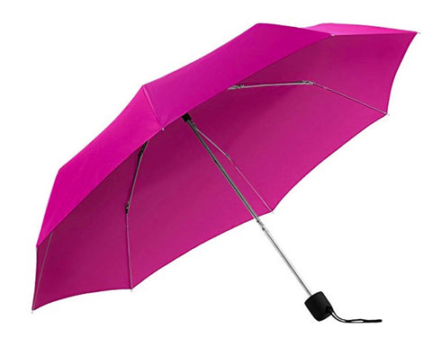 The Indestructible Umbrella Hot Pink Manual Folding Model Palm Handle Defense