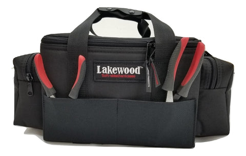 Lakewood Fishing Black Lure Caddy Tackle Box w Adjustable Hanging Lure Dividers