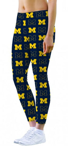 Loudmouth Golf Womens Michigan Go Blue Size Small Active Leggings