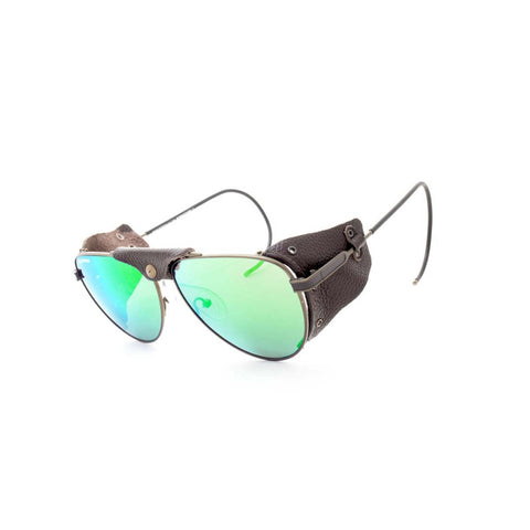 Peppers Polarized Sunglasses Danali Antique Green Lens with Brown Frame