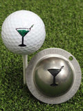 Tin Cup Martini Golf Ball Custom Marker Alignment Tool