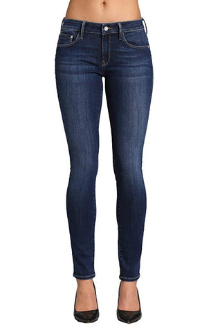 Mavi Women's Alexa Dark Supersoft 32/32 Mid Rise Skinny Jeans