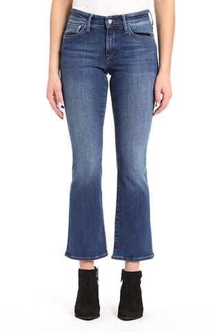 Mavi Women's Molly Indigo Supersoft 34/32 Mid Rise Classic Bootcut Jeans