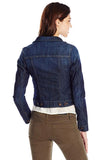 Mavi Women's Samantha Size Small Dark Nolita Classic Slim Fit Denim Jacket