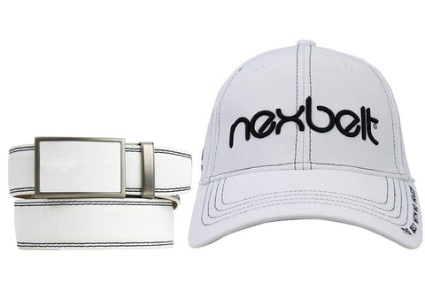 Nexbelt Match Package: Winner White Go-In Belt with Cap and Beanie