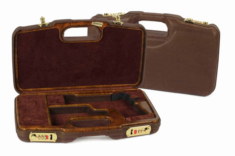 Negrini Model 1911 Leather/Faux Wood Deluxe Handgun Case 2018SPL-WOOD/5386