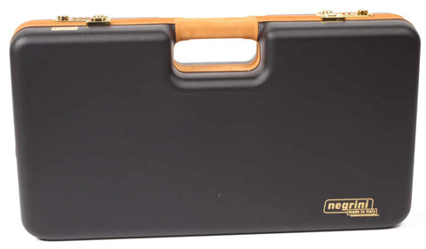Negrini Cases 2027LX-TAC/4843 Handgun Deluxe Travel Case (2 Gun) Black/Red