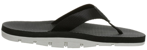 Island Slipper Mens Nylon Thong Black Size 10 Sandals